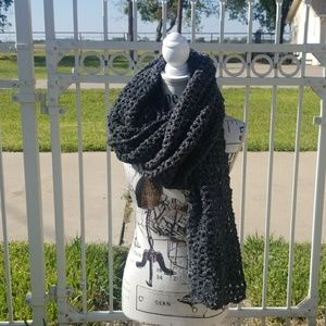 Extra long chunky knit handmade scarf